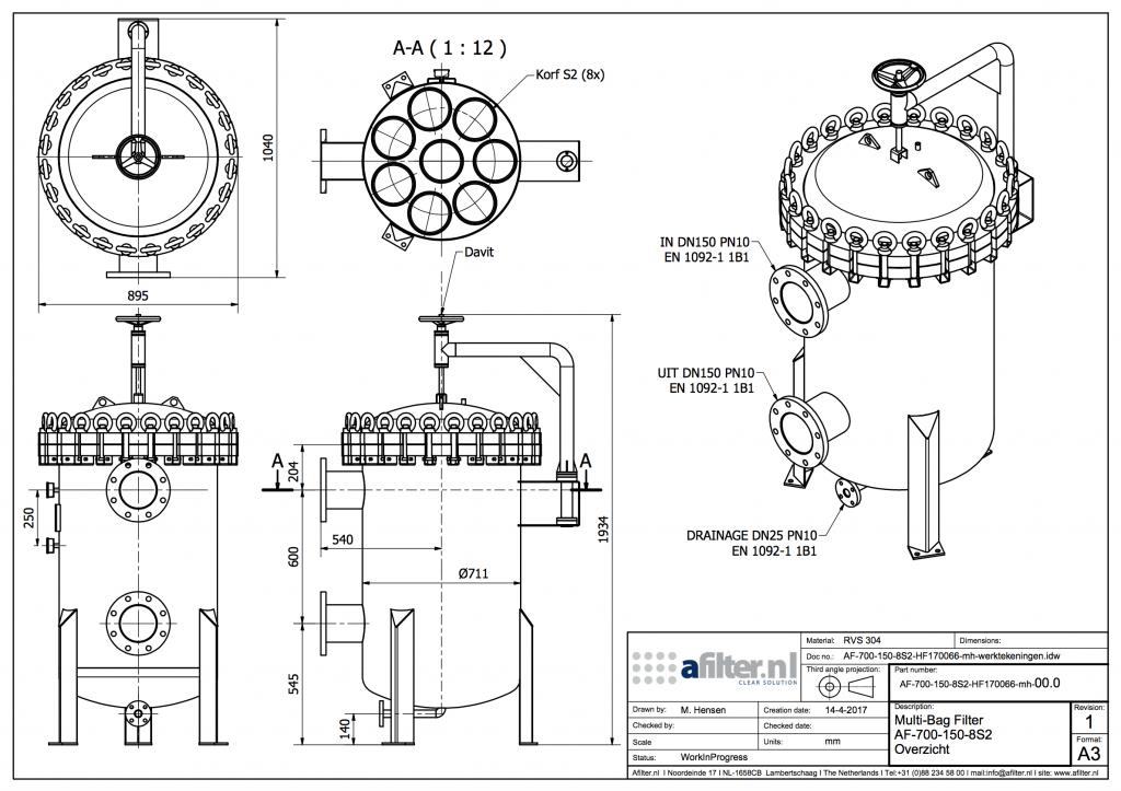 Zakkenfilterhuis-rvs-8-filterzakken
